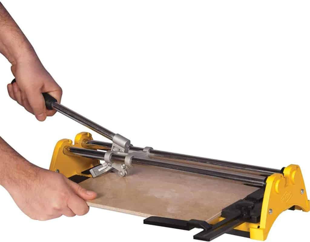cutting glass tile with a bar cutter