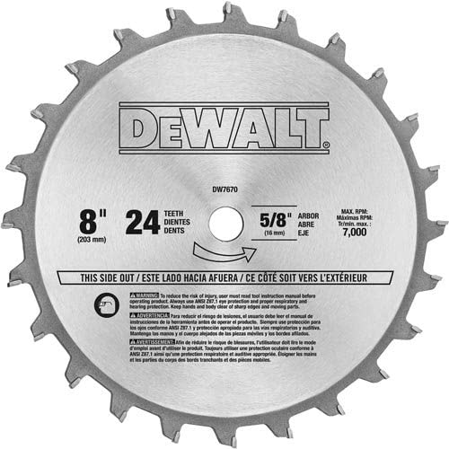 best 8 inch table saw blade