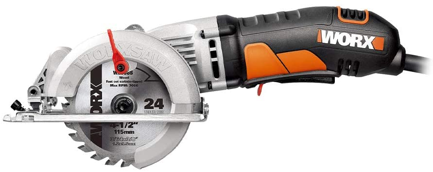 compact circular saw for cutting plastic