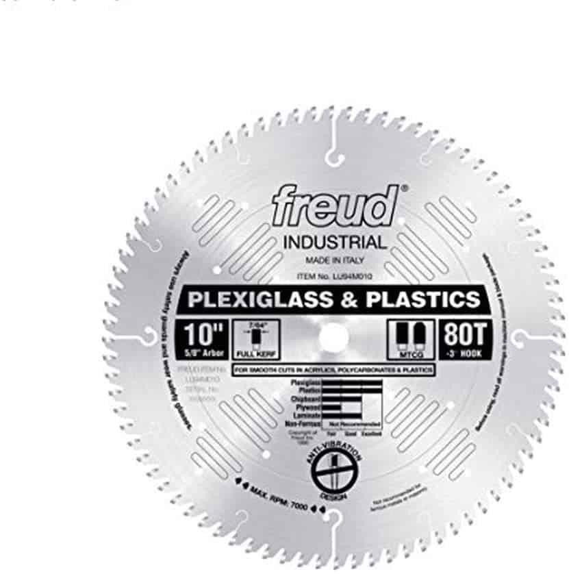 blade for cutting plexiglass